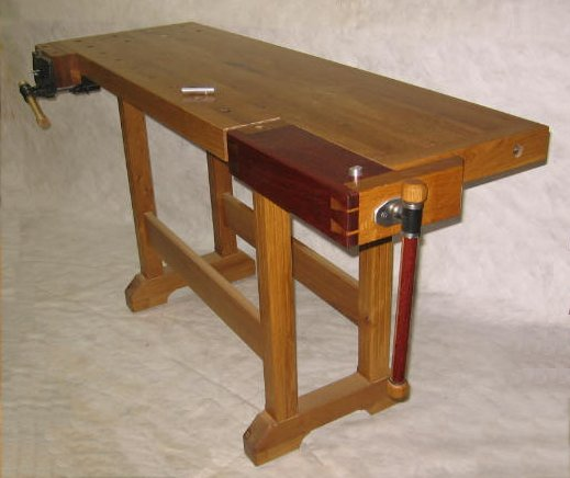 Classic woodworkers bench with tail vise